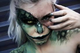 the lizard halloween makeup time lapse youtube