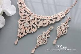 gold jewelry sets for weddings gold wedding jewelry set vintage style bridal necklace set
