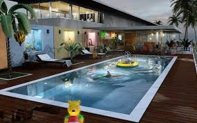 Small Backyard Swimming Pool Designs Apartments Comfortable House With Swimming Pool Design Best