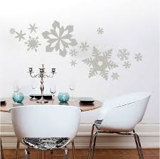 Dining Room Decals Snowflake Wall Decals Trendy Wall Designs