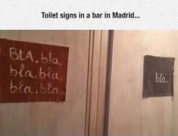 Mens And Womens Bathroom Signs Men Vs Women At Bathroom