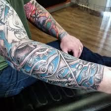50 mechanic tattoos for masculine robotic overhauls