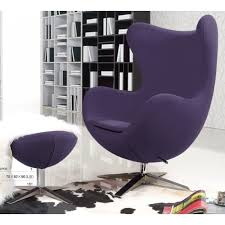 Purple Chair Uk Purple Arne Jacobsen Swivel Egg Chair Bauhaus Classic Chair Coco54