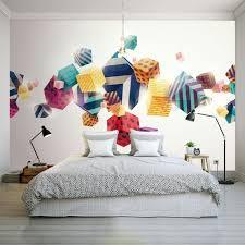 bureau personnalisé personnalisé 3d papier peint moderne 3d stéréo couleur box wallpaper