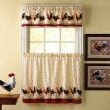 rooster curtains for country kitchen decor u2014 jen u0026 joes design