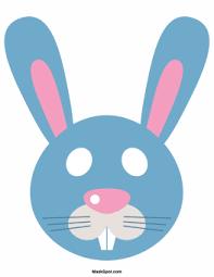 bunny mask printable easter bunny mask