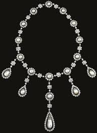 pearl necklace with diamond images Italian noble family collection natural pearl diamond necklace jpg