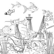 free printable ocean coloring pages kids
