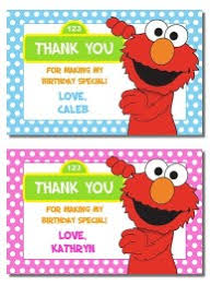 elmo birthday party invitations thank you note cards labels