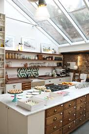 kitchen style roof window retro kitchen design white marble