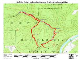 Indian Cave State Park Map by Buffalo Point Indian Rockhouse Trail U2013 3 Mi Arklahoma Hiker