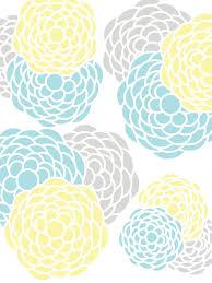gray yellow teal kitchens floral print aqua pink gray