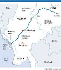 Kunming China Map by China U0027s Deepening Imprint On Myanmar In Mandalay Se Asia News