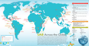 India On A Map Uab Medicine Magazine Uab Across The Globe A Map Of