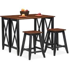Breakfast Bar Table And Stools Nantucket Breakfast Bar And 2 Counter Height Stools Black And
