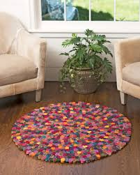 wool rug millefleur felted wool rug colorful wool rug handcrafted wool rug