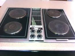 table top burner electric jenn air jed8230adb 30 electric downdraft cooktop with double
