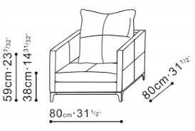 Armchair Dimensions Balance Contemporary Chair