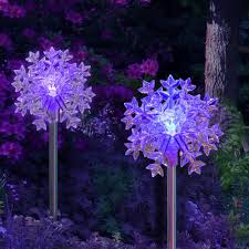 diy solar outdoor lights color changing snowflake