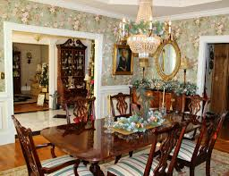 dining room wallpaper ideas black hanging lamps wooden floor