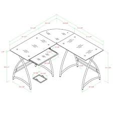 walker edison alexa l shaped glass computer desk d51al30b