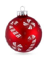 kurt s adler red candy cane glass ball ornaments 4 piece box set