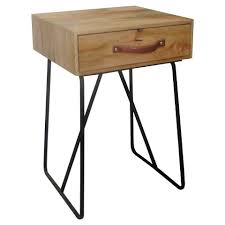target furniture accent tables 1 drawer wood metal accent table urban tan threshold