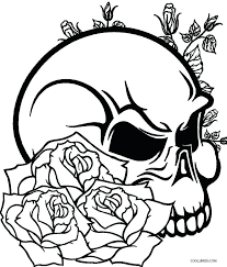 color pages skulls and roses coloring pages colouring