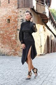 black dress with cuts i am georgiana