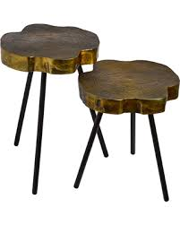 side table set of 2 savings on pols potten tree slice side table set of 2