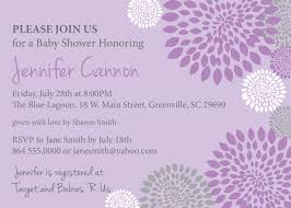 purple and grey baby shower invitations baby shower invitations purple and lavender with charcoal