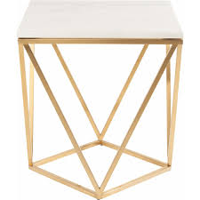 Modern Furniture End Tables by Nuevo Modern Furniture Hgtb263 Jasmine Side Table W White Marble