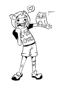 owls fan art left handed toons by right handed people