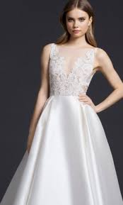 new wedding dress lazaro 3658 2 430 size 8 new un altered wedding dresses