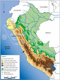 Maps Of South America Relief Map Of Peru America Relief Map Peru Maps Of South America