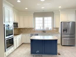 what color cabinets with beige tile benjamin white painted oak cabinets beige tile floor