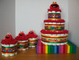 sesame street baby shower cakes home party theme ideas