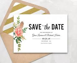 save the date template save the date template floral save the date card boho save the