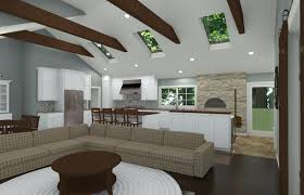 Cathedral Ceilings In Living Room by Open And Vaulted Kitchen In Colts Neck Nj Design Build Pros
