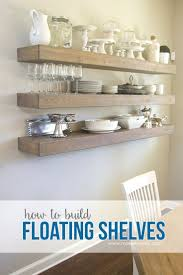 styled dining room shelving the wood grain cottage shelves photo