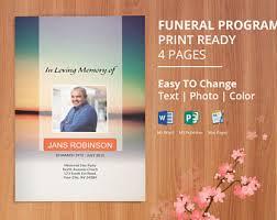 Where To Print Funeral Programs Printable Funeral Program Template Memorial Obituary