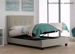 Grey Upholstered Ottoman Bed Endearing Grey Ottoman Bed With Evert Slate Grey Fabric