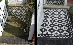 Victorian Mosaic Floor Tiles Tiled Doorstep U0026 York Stone Doorstep U0026 Victorian Black And