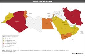 Africa Middle East Map by Download Index Of Economic Freedom Data Maps And Book Chapters