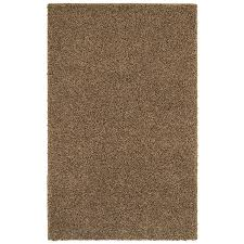 mohawk home area rugs shop mohawk home kodiak peanut patch shag brown area rug common