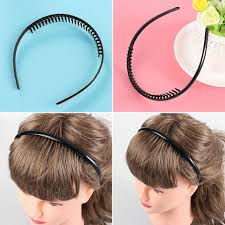 headbands sports 1 2 pcs black metal toothed sports football soccer hair clip
