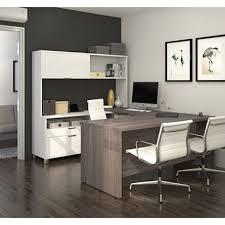 Bestar U Shaped Desk Bestar Pro Linea Officepro 120000 U Shaped Desk With Hutch And