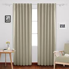 Curtain For Girls Room Amazon Com Deconovo Solid Insulated Thermal Window Blackout