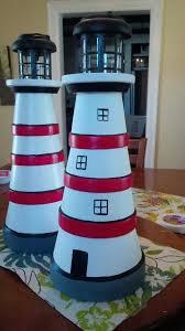Lighthouse Garden Decor 676 Best Terra Cotta U0026 Wood Lighthouses Images On Pinterest