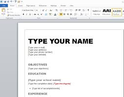 Create A Online Resume by Create Your Resume Resume Example